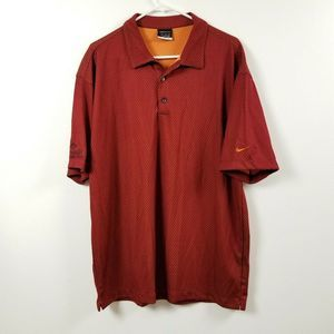 Nike Fit Dry Mens Polo Shirt Extra Large XL Red